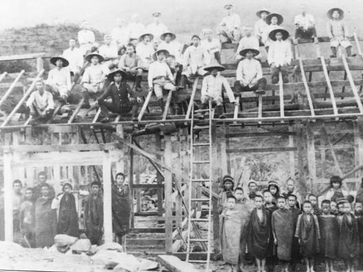 Foto antigua del primer asentamiento, 1940 (Asociación para el Desarrollo de la Comunidad, 2015)