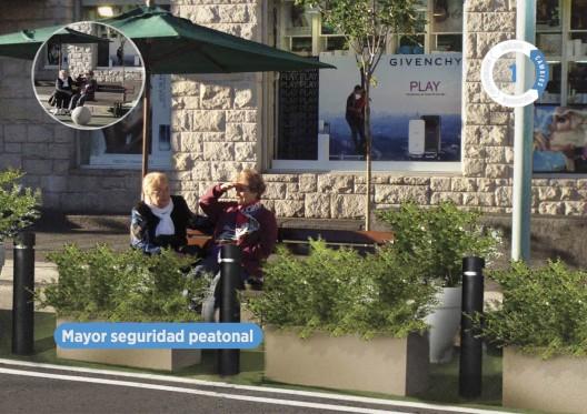 """Implementación de Corto Plazo, Mar del Plata. Fuente: """"Calles para la Gente""""."""