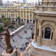 Mirador de la Catedral Metropolitana de Santiago. Foto por Claudio Orrego en Twitter.