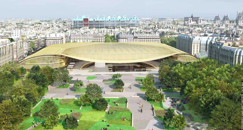 """Canopy, Les Halles. Fuente imagen: """"Les Halles,  el nuevo corazón de París"""", Ayuntamiento de París."""