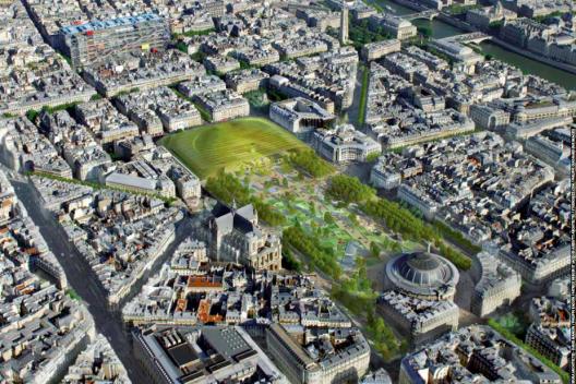 """Fuente imagen: """"Les Halles,  el nuevo corazón de París""""."""