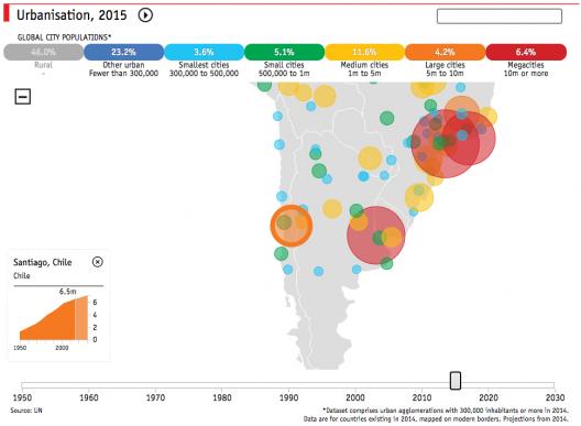 Santiago, 2015.  © The Economist