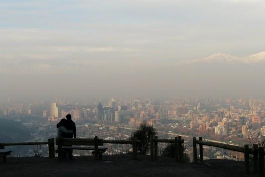 Contaminación atmosférica  en Santiago. © alobos Life, vía Flickr.