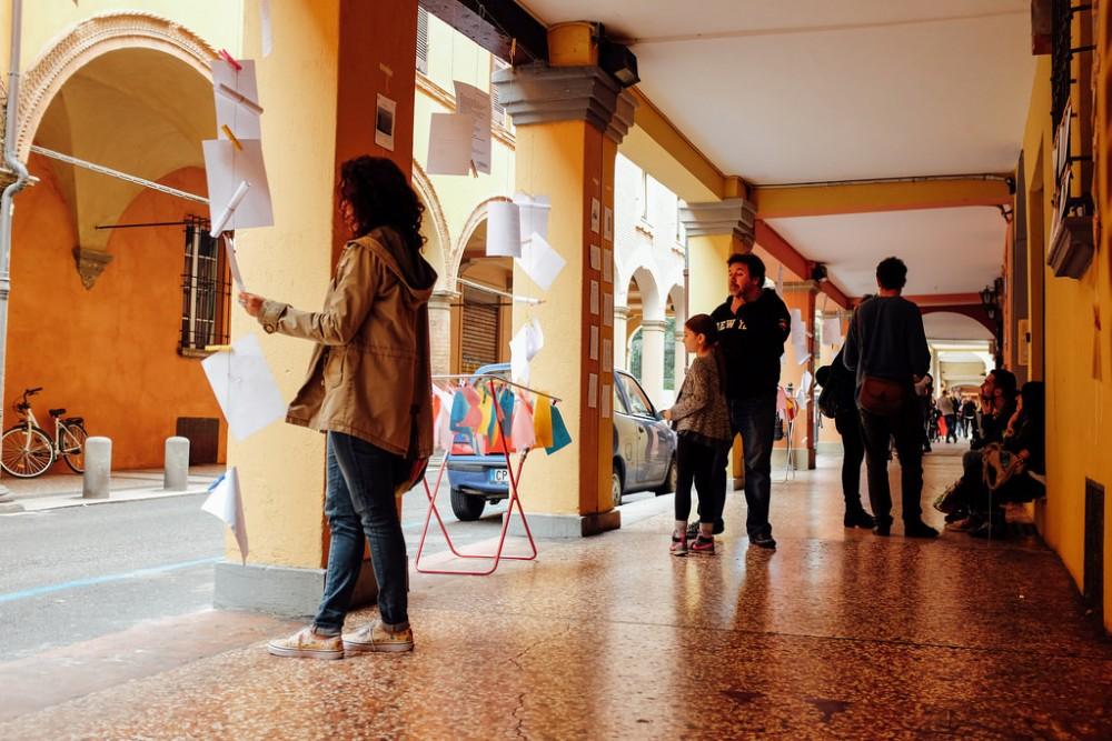 Via Fondazza, Bolonia, Italia. © Erdiola Mustafaj, vía Flickr.