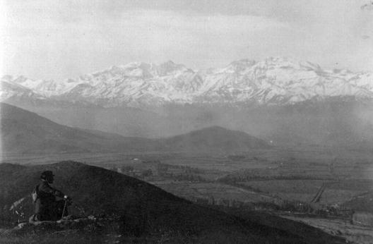 Vista desde el cerro San Cristóbal hacia el oriente en 1919. Fuente: Alberto Sironvalle (alb0black en Twitter).