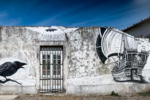 """""""A Barca"""" por Mosaik. Lisboa, Portugal."""