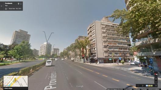 Avenida Nueva Providencia esquina Jose Miguel Infante Fuente: Google Street View