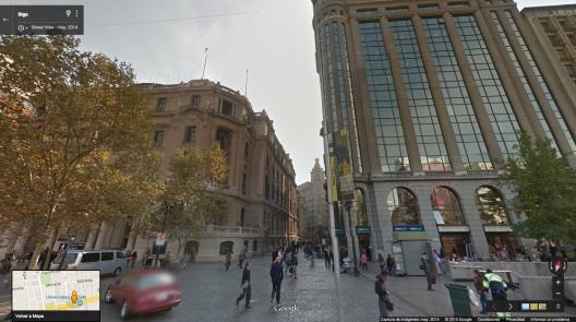 Calle Nueva York desde la Alameda. Fuente: Google Street View.