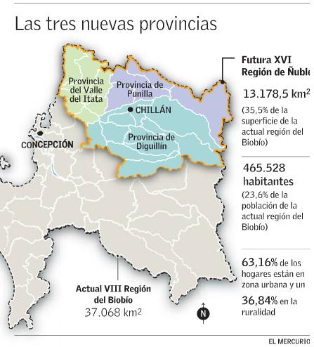 mapa nueva region nuble