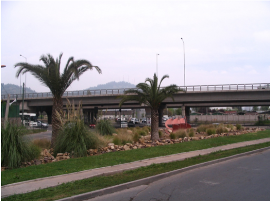 Giro. Iván Daiber, 1999. Américo Vespucio con Avenida El Salto. Santiago de Chile.