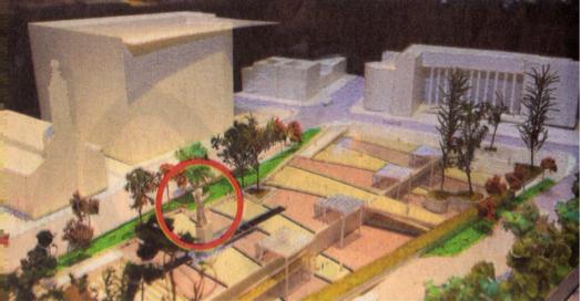 Maqueta del proyecto Plaza Gómez Rojas diseñado por el Arquitecto Cristian Boza.