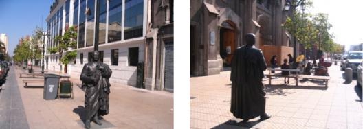 Escultura de Diego Portales. Calle Ejército, Santiago de Chile.