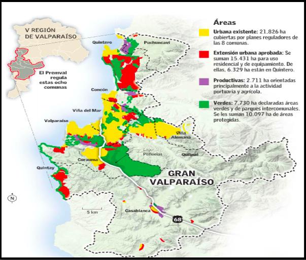 Figura 5. Infografía Plan Regulador Metropolitano de Valparaíso. Fuente Archivo de prensa Plataforma Urbana
