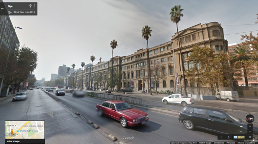 Casa Central de la PUC. Fuente: Google Street View
