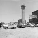 Construccion de la Torre Entel y Estacion Moneda del Metro de Santiago en 1973 Fuente Alberto Sironvalle