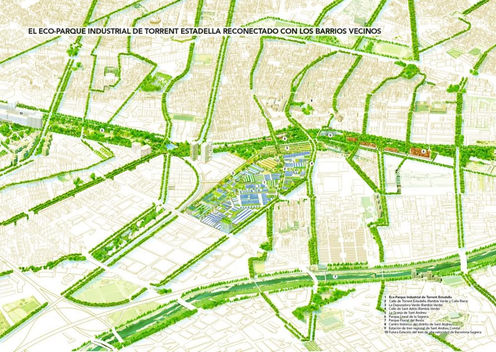 El eco-parque industrial de Torrent Estadella reconectado con los barrios vecinos