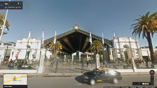 Estación Central en 2015. Fuente: Google Street View