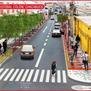 Proyección para la Avenida Cristóbal Colón, esquina Chacabuco, Arica. © Municipalidad de Arica