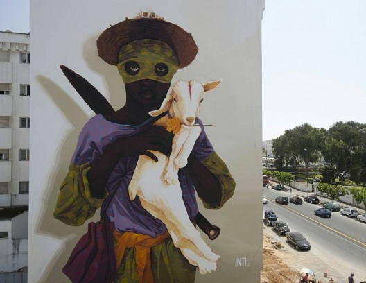 """Exodus I"" por INTI en Rabat, Marruecos."