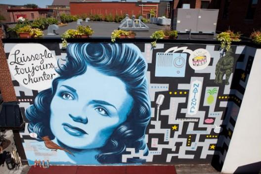 """""""Laissez-la toujours chanter"""" por Dan Buller. Montreal, Canadá."""