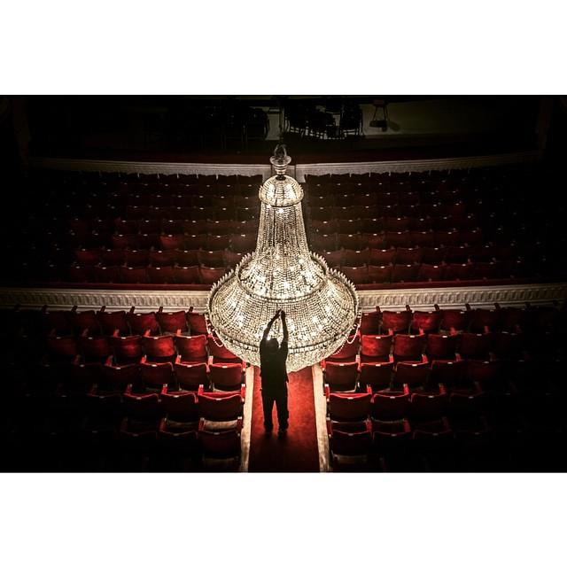 Lámpara del Teatro Municipal de Santiago. Cortesía Amo Santiago.