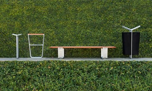 Colección MultipliCITY diseñada por Yves Behar y fuseproject. Imagen Cortesía de Landscape Forms