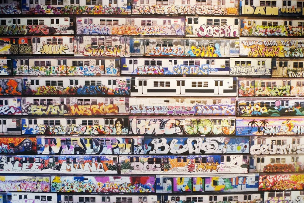 """Moving Murals Chalfant Mosaic Installation"" por Henry Chalfant. Nueva York, EE.UU."