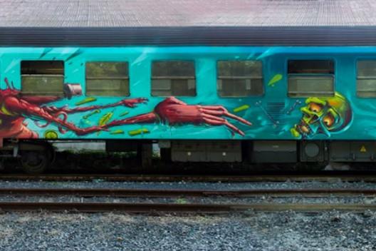"""Mr. Zero Train"" por Mr. Zero. Bratislavia, Eslovaquia."