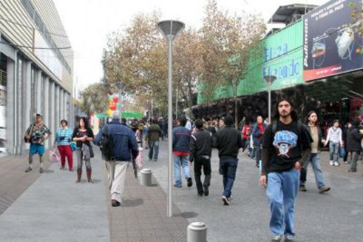 Calle Placer (Simulacion)- Cortesía Municipalidad de Santiago.