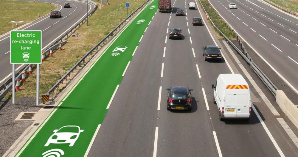 Prototipo de carretera eléctrica. Fuente imagen: Departamento de Carreteras de Reino Unido.