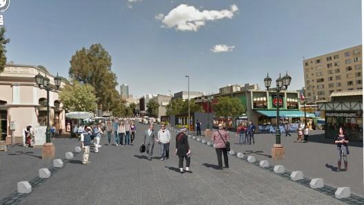 Proyecto para calle Puente. Cortesía Municipalidad de Santiago.