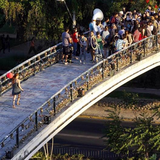 Puente Racamalac, Providencia (altura Salvador). Cortesía Amo Santiago.