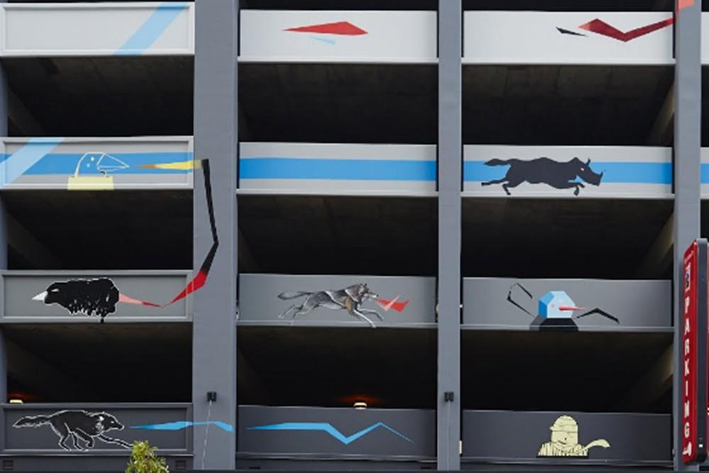"""""""South Park Mural"""" por Devin Liston y Gosha Levochkin. Los Ángeles, EE.UU."""