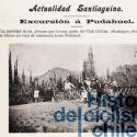 """Club Ciclista de Santiago en una excursion a Pudahuel, 1904. Cortesía """"Historia del Ciclismo Chileno""""."""