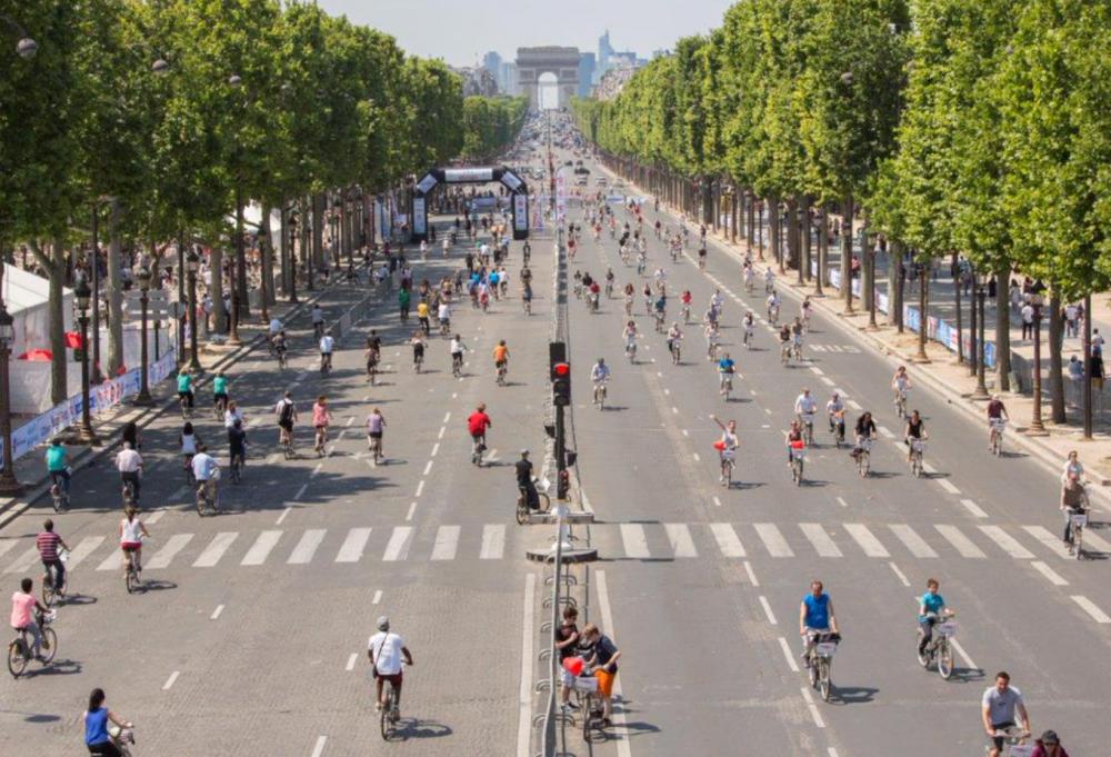 Día Mundial sin autos Paris 2014