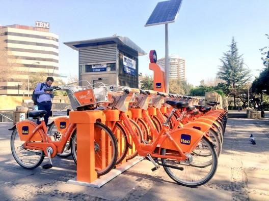 Estación Salvador 2 de Bike Santiago. Fuente imagen: Bike Santiago en Facebook.