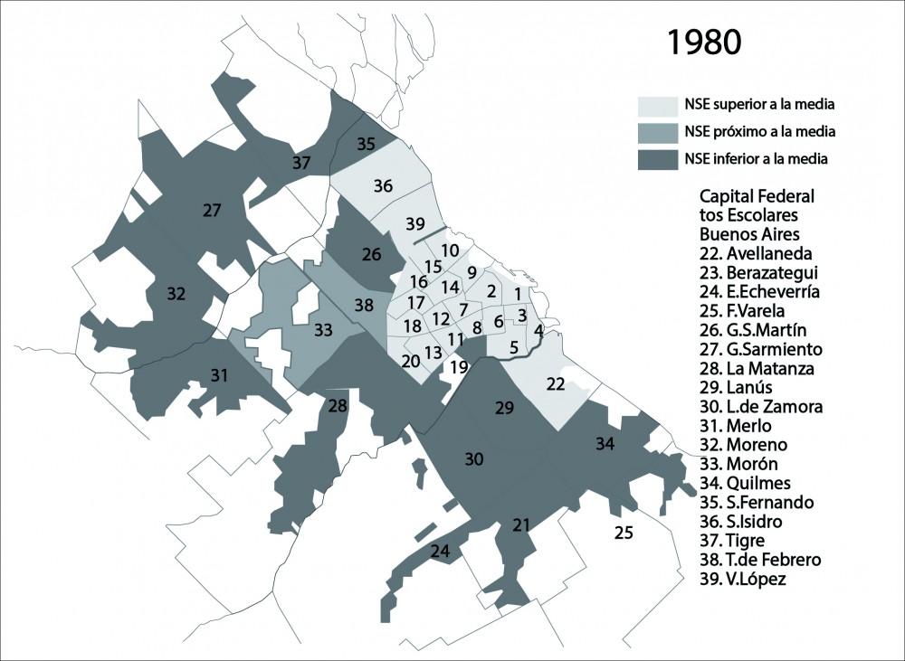Niveles socioeconomicos del Area Metropolitana  de Buenos Aires en 1980