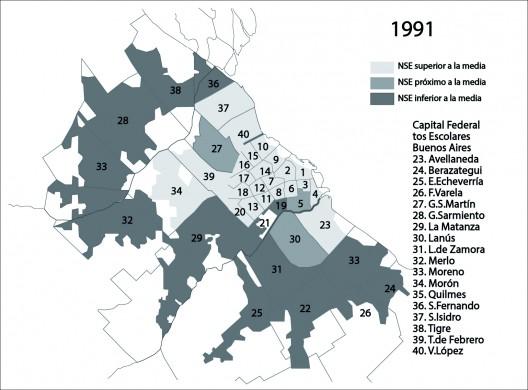 Niveles socioeconomicos del Area Metropolitana   de Buenos Aires en 1991