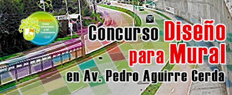 flyer concurso diseno mural avenida pedro aguirre cerda municipalidad valdivia