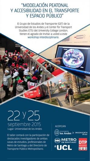 Flyer Workshop Universidad de Los Andes 22 y 25 septiembre
