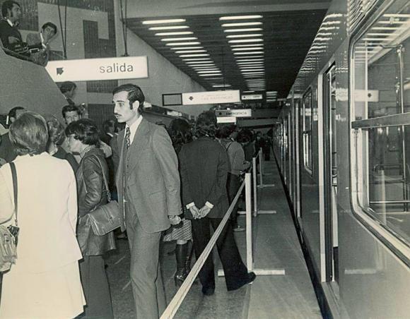 Metro de Santiago.