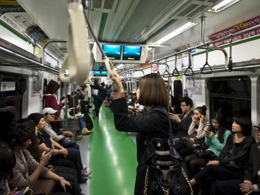 Metro de Seúl, Corea del Sur. © mardruck, vía Flickr.