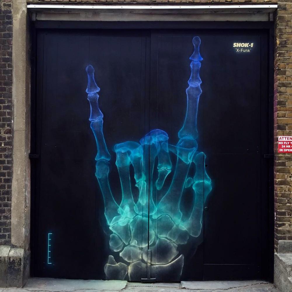 Mural de Shok 1 en Reino Unido.