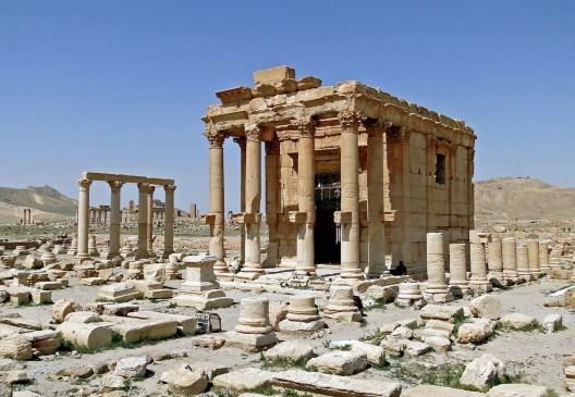 Templo de Baalshamin en Palmira, Siria. © Bernard Gagnon, vía Wikipedia.