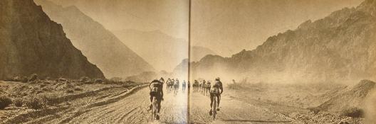 """Tercer Cruce Los Andes. Cortesía """"Historia del Ciclismo Chileno""""."""