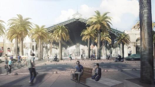 Estación Central. Image Cortesía de Nueva Alameda Providencia