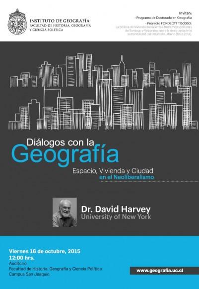 afiche charla david harvey 16 de octubre uc