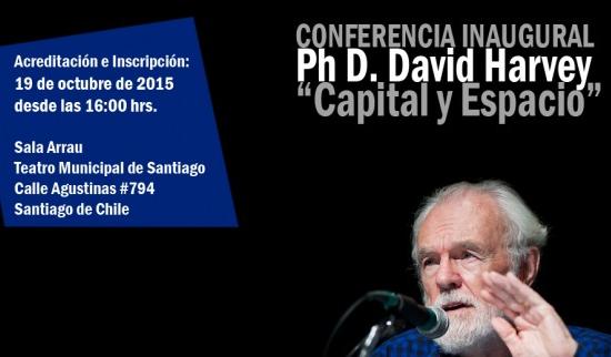 afiche conferencia david harvey congreso