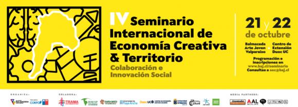 afiche iv seminario internacional economia creativa y desarrollo valparaiso