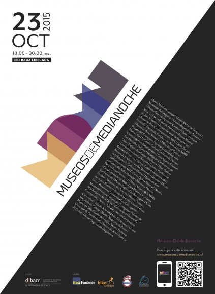 Afiche Museos de Medianoche 23 octubre 2015